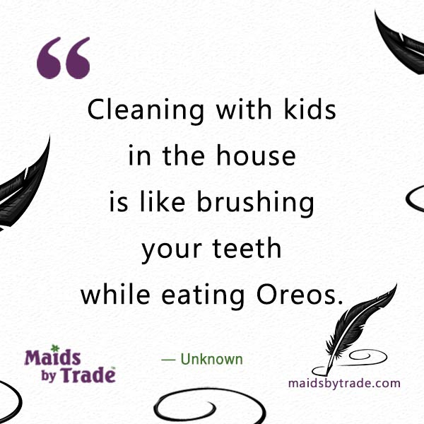 -brushing your teeth while eating Oreos.- oreo flavored toothpaste- cleaning quote