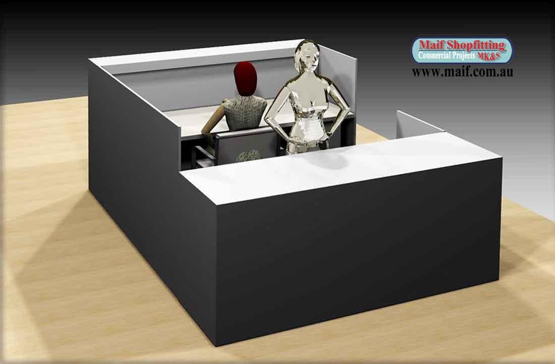 Kion  Shop kiosk or center desk  Reception counters
