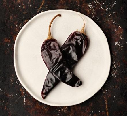 dried guajillo peppers