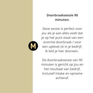 doorbraaksessie business mentor Maike