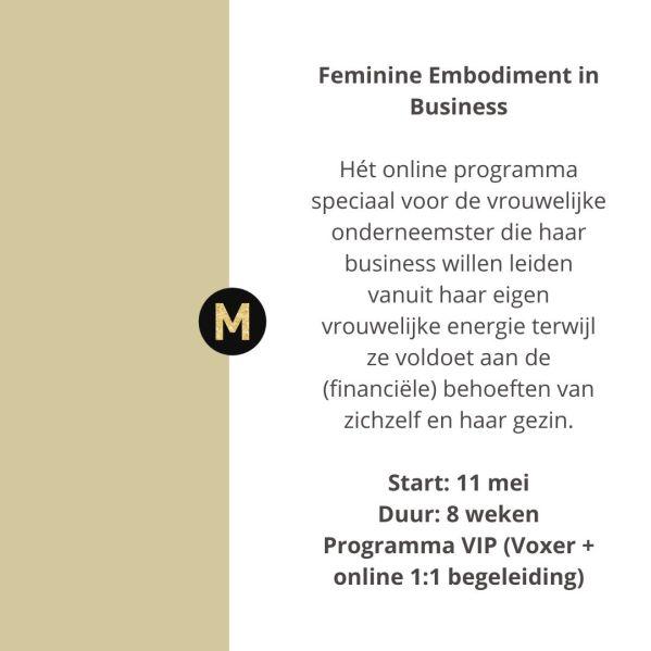 feminine embodiment in bedrijf Maike Maessen