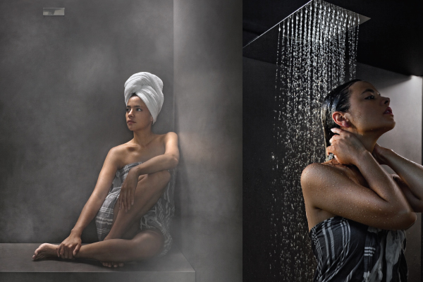steam room and cold water