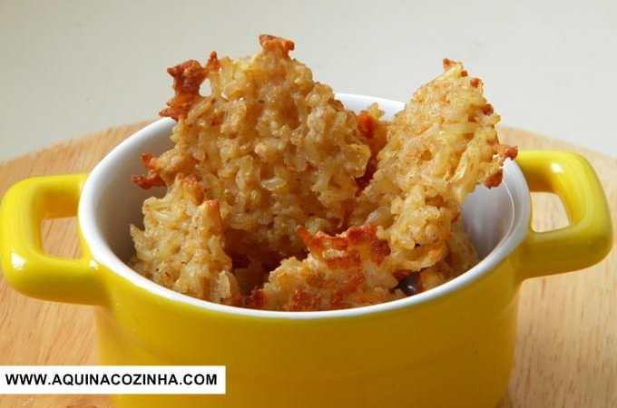 bolinho de arroz integral assado