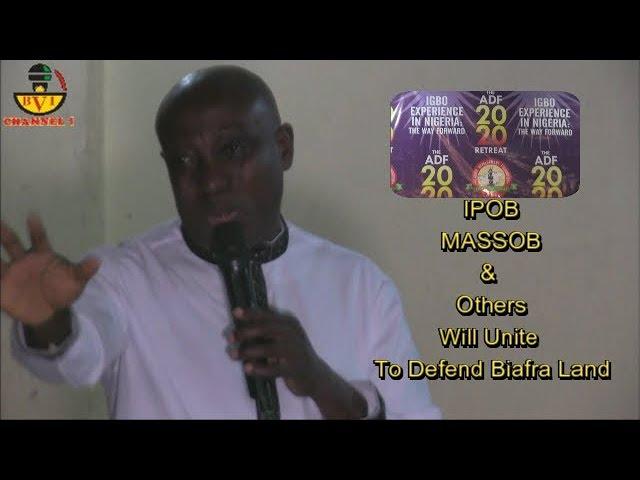 ADF Uniting Forces To Defend Igbo Biafra Land, Uwazurike Speaks