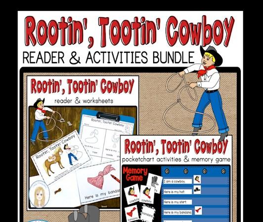 Rootin Tootin Cowboy Reader and Activities Bundle