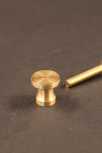 Paul McCobb jewelry box draw pull knob in brass photo