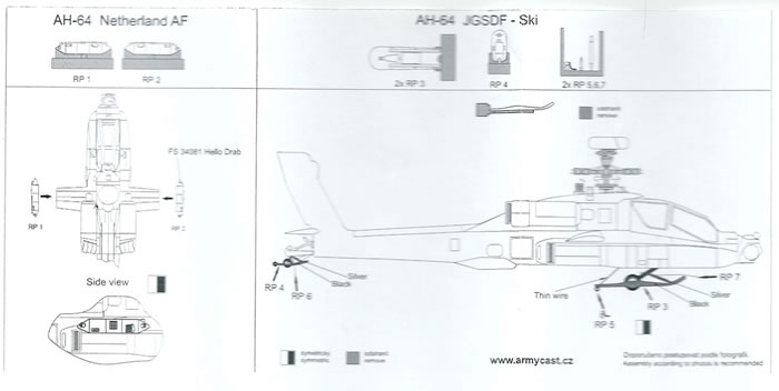 Armycast 1/72 scale AH-64 Apache Conversion, Detail