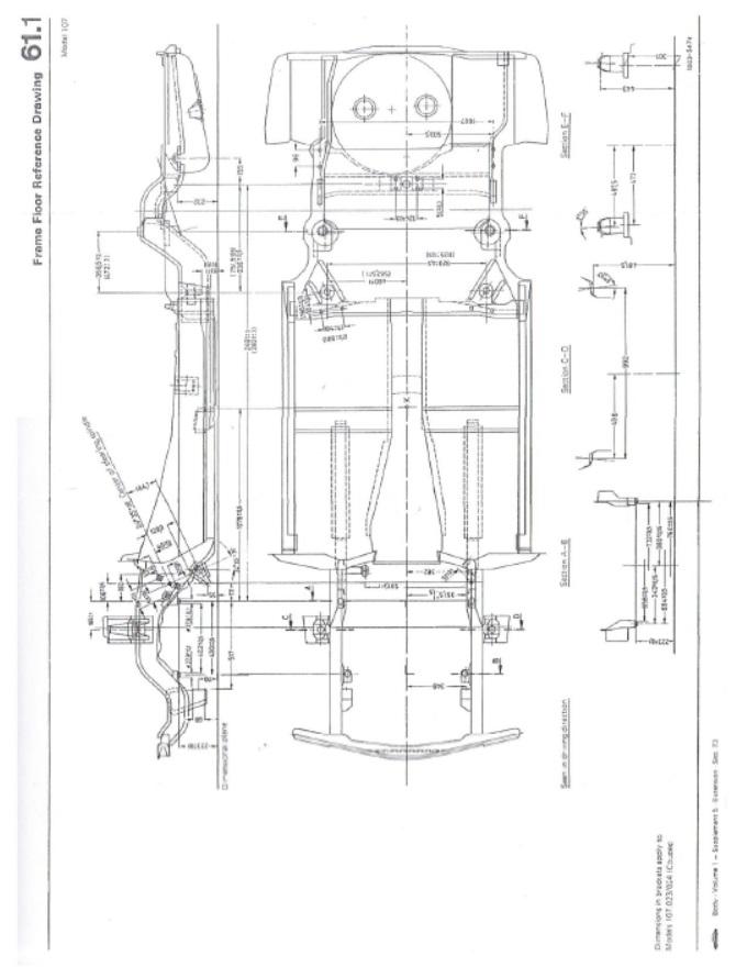 Mercedes Benz 107 Bodywork and Frame Manual, 380 380sl 450