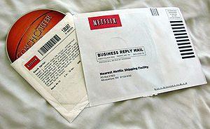 English: A Netflix envelope picture taken by B...