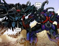 "Megatron greets his ""brother"" Optimu..."