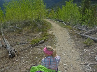 This was easily the coolest section of trail we hiked along, though it owes much of that to the 1978 lightning-caused wildfire that has left the area fairly open. The aspens were gorgeous.