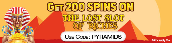 Deposit £20 and get 200 Free Spins