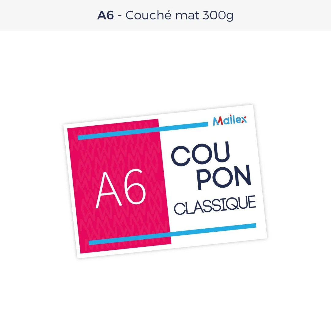 Coupon A6 Couché mat 300g
