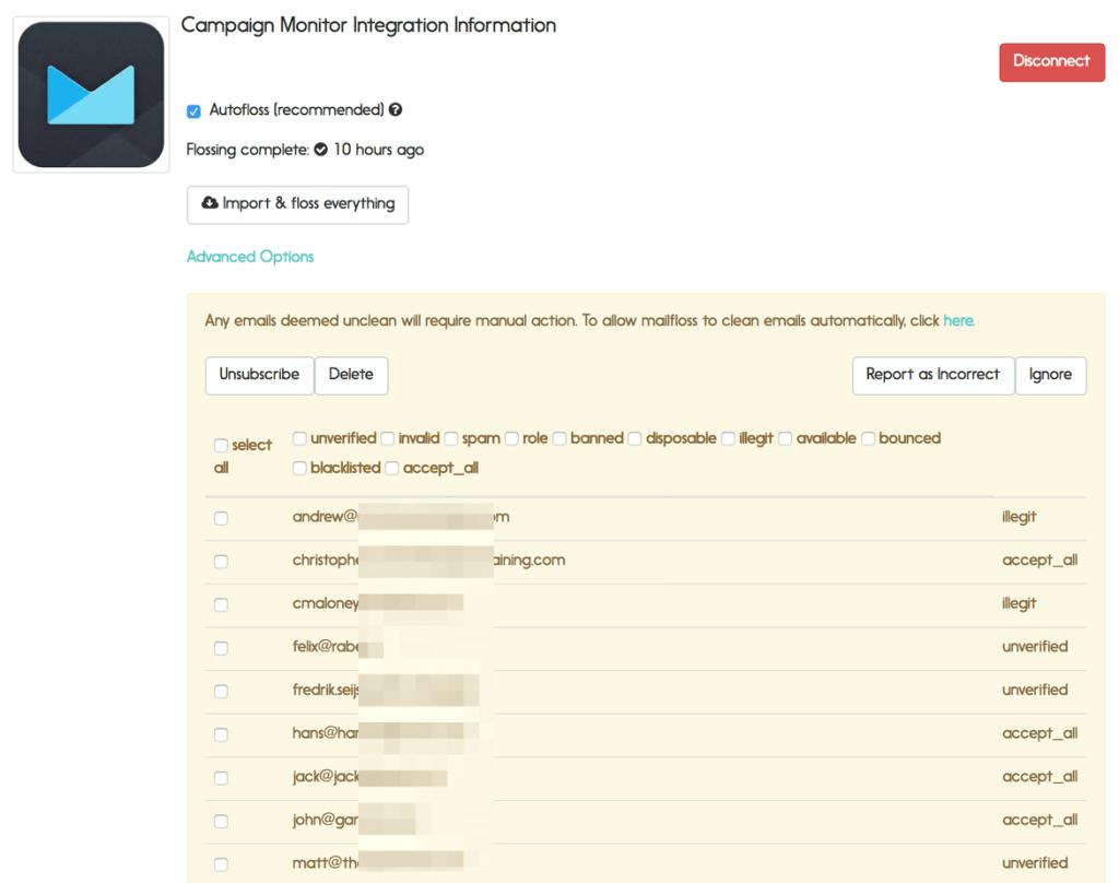 campaign monitor manual email verification using mailfloss