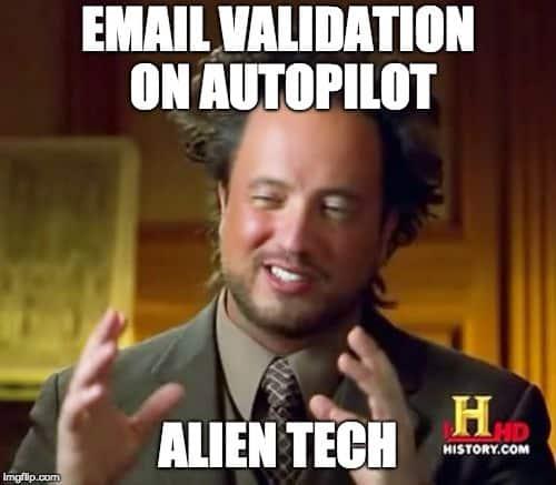 meme - email verification alien tech