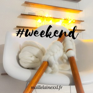 Week end laine grosse maille