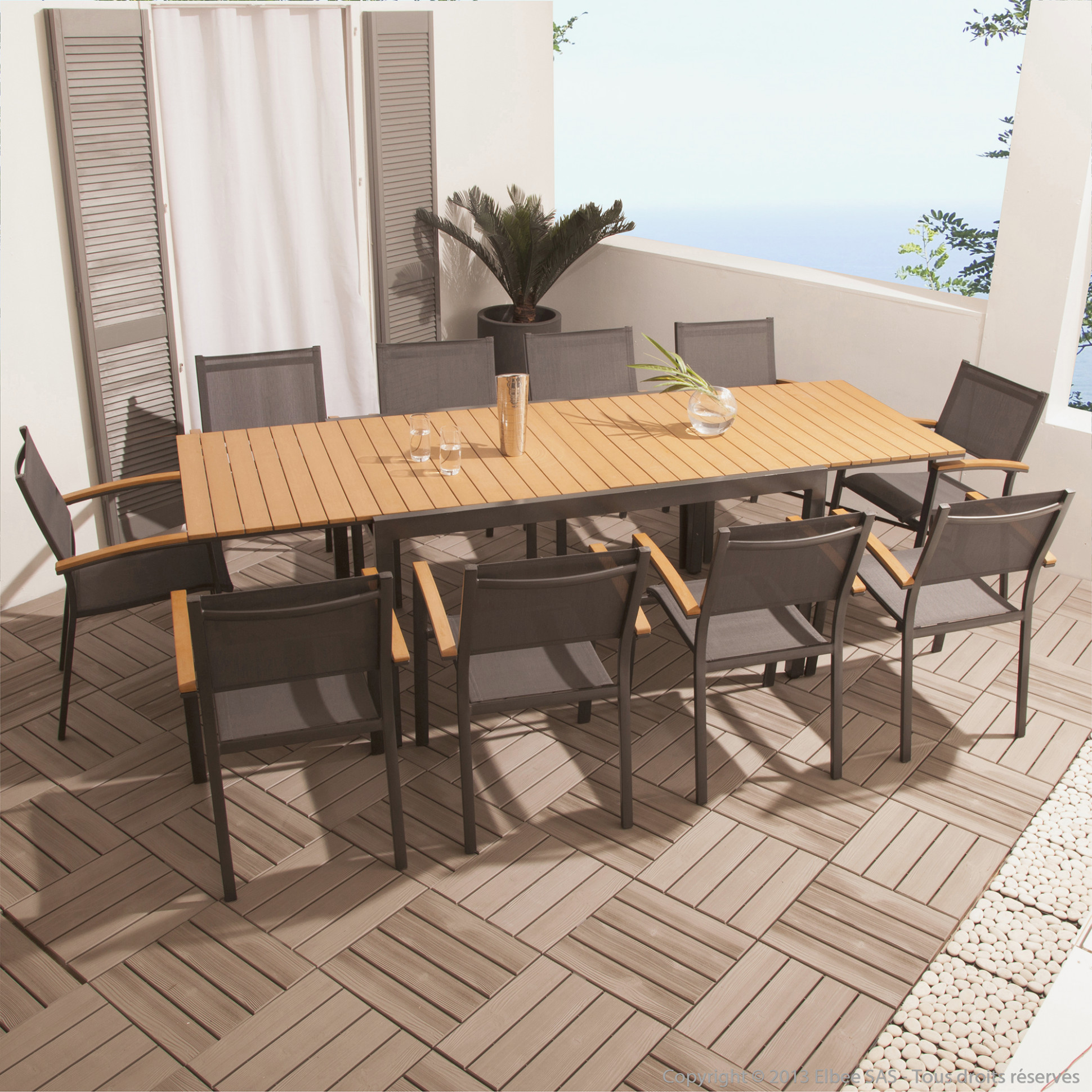 Table Jardin Aluminium Composite | Salon De Jardin Aluminium ...