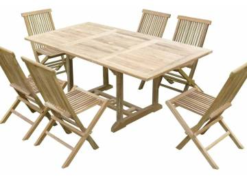 Table Jardin Teck Rallonge