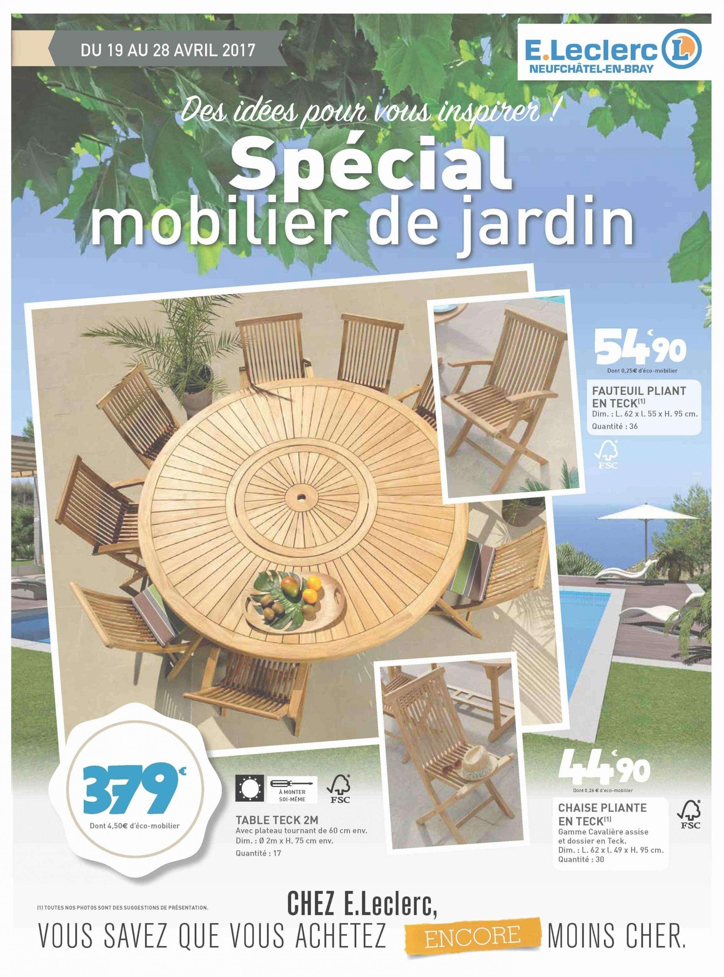 Table De Jardin Teck Ronde Leclerc