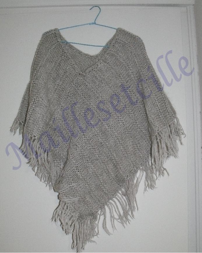 Tricoter Un Poncho Du 2 Ans : tricoter, poncho, Poncho, Très, Facile, Faire, Mailles&cille