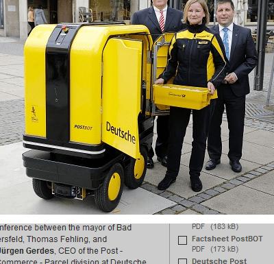 Deutsche Post mail robot