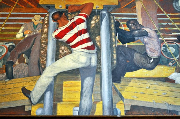 Long Staple Cotton mural detail