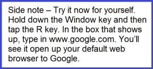 Windows Key Side Note