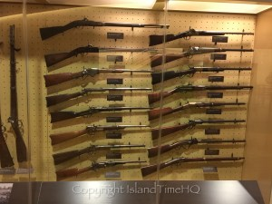 Weapons used during the Battle of Gettysburg on display at the museum