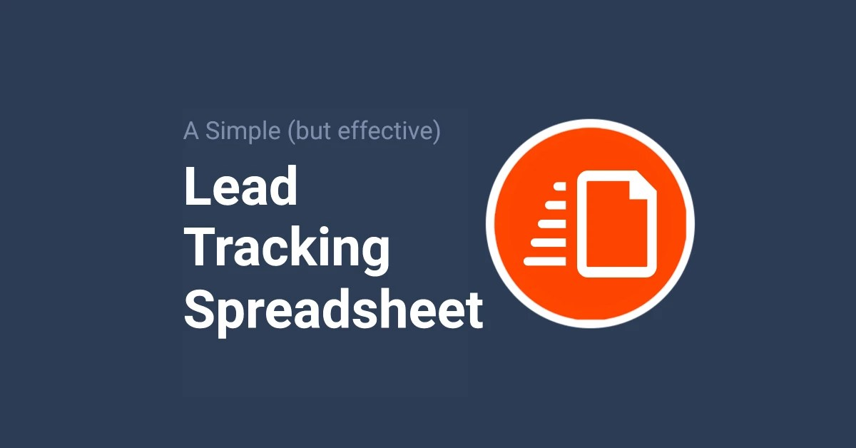 Sales lead tracking excel template. A Simple Lead Tracking Spreadsheet For Follow Ups Free Template