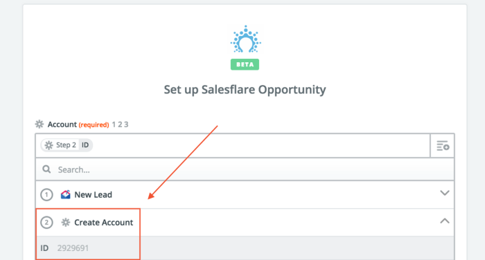 set up a salesflare opportunity