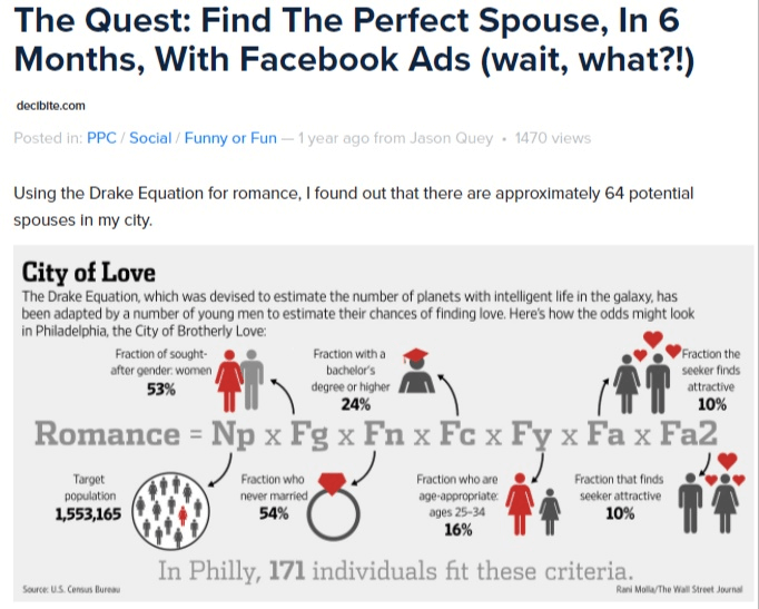 Jason Quey- finding a spouse using Facebook ads