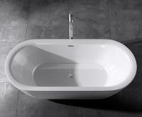Freistehende Badewanne Acryl-Wanne Standbadewanne 180 x ...
