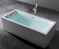 Freistehende Badewanne Rechteck Acryl Wanne Standbadwanne ...