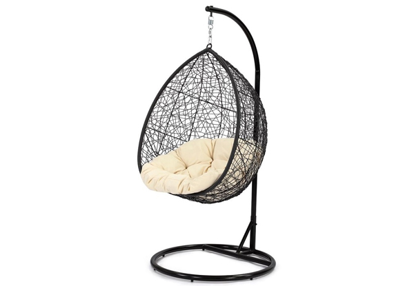 hanging chair christchurch revolving hsn number helicopter outdoor cha grabone nz 249 for a in two colours or 349 large egg swing pod black