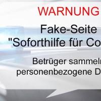 """Polizei warnt vor Fake-Seite """"Soforthilfe für Corona"""""""