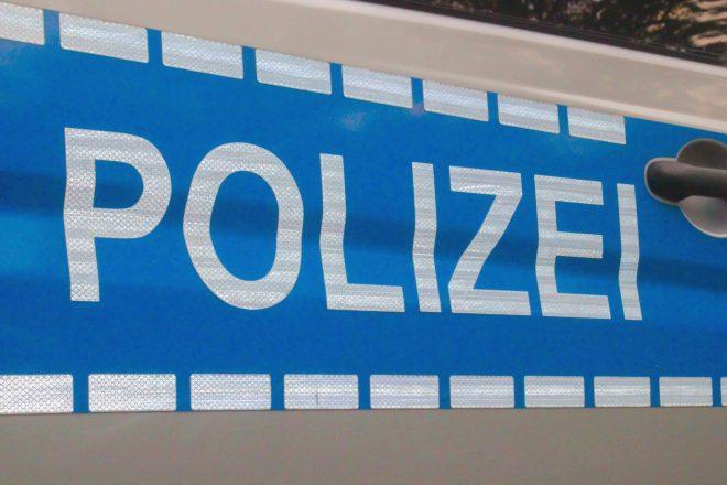 Teil eines Polizeiwagens
