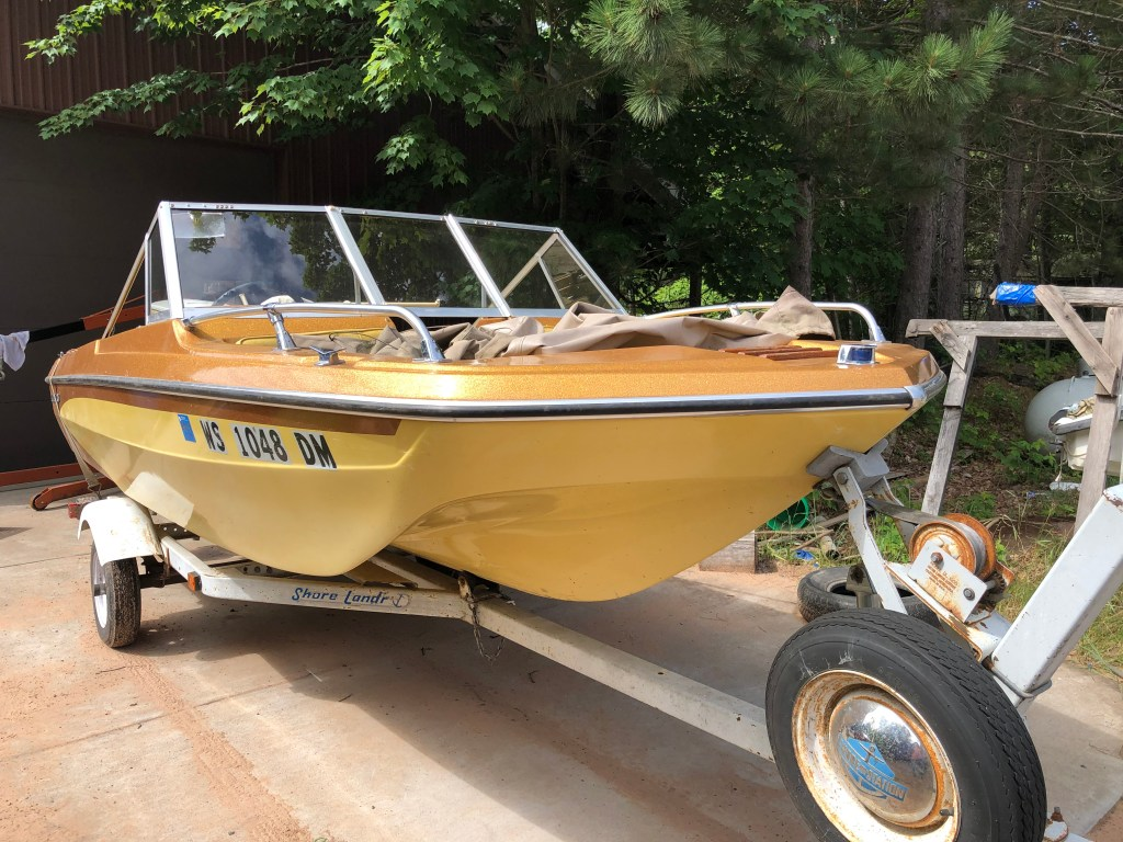 1979 GLASSTRON OPEN BOW 16 WITH 100HP JOHNSON