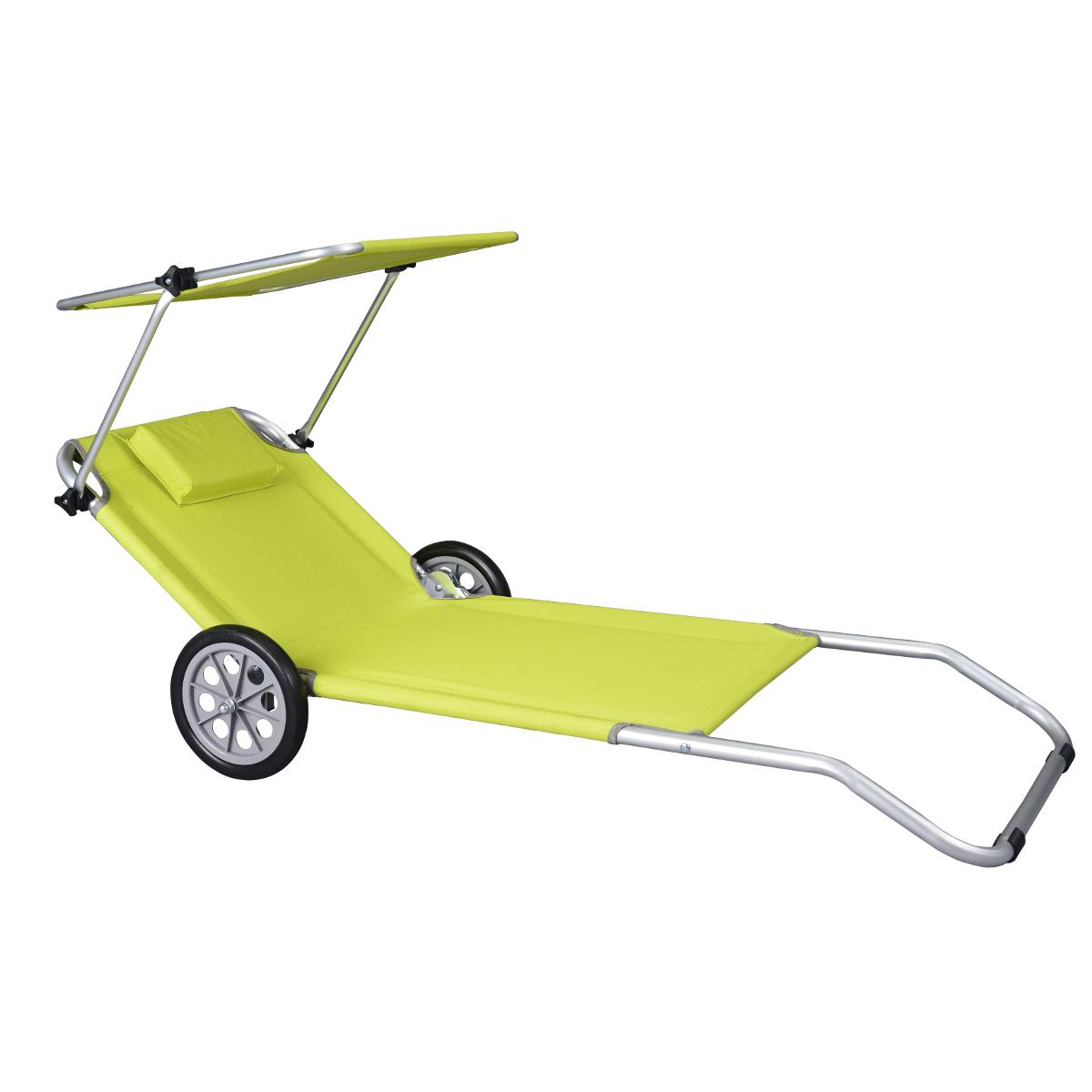 Lettino Da Mare E Da Sole Con Ruote Sdraio Trolley.Sdraio Da Spiaggia Con Ruote Sedie Da Mare Lettini Amazon