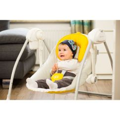 Baby Bouncy Chair Age High Chairs Suitable From 3 Months Kinderkraft Nani Yellow Bouncing Swing Seat