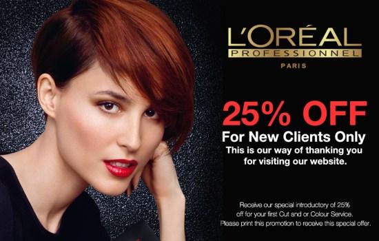 main street hair salon 25% off special