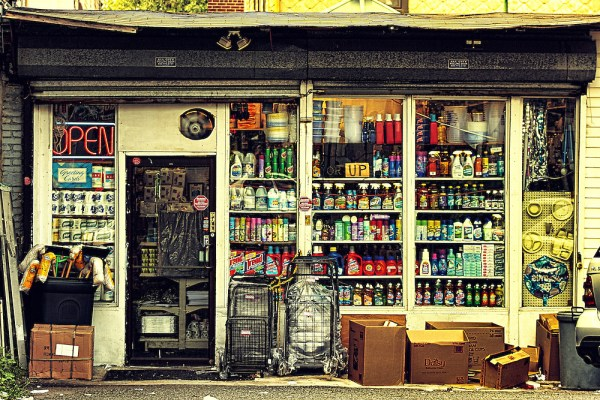 Only one word comes to mind when I see this photo: CHARMING, SMALL TOWN STORE.