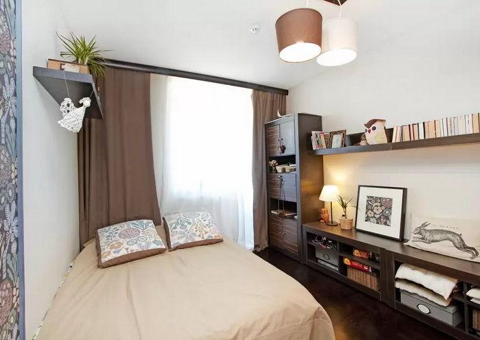 Design della camera 10 m2.