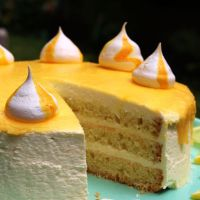 Lemon Curd Quark Torte