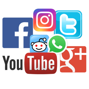 Various icons for social media