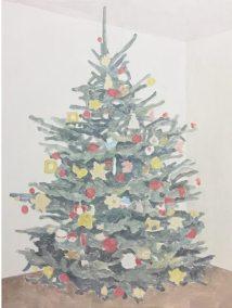 "Francesca Fuchs, ""Xmas Tree (open branches)"", acrylic on canvas, 32""x24.25"", 2016"
