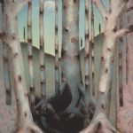 "Bruises and Boundaries, Oil on Panel, 31""X23"" 1994-5"