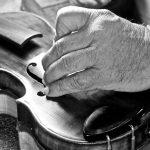 "John Ripton, ""Hand Becomes Violin"", Photograph Inkjet on Archival Paper, 12""X16"""
