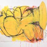 Sarah Hewitt, Spring Beast, 2015, 36'' x 42'' Pigments, inks, graphite on mylar