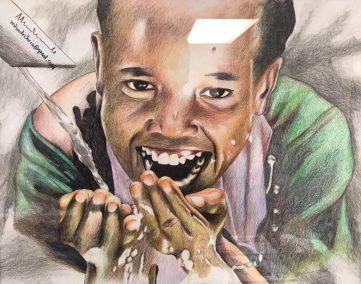 Ripton 10 Christian Muhunde  Save Water  Color Drawing 16X20 copy