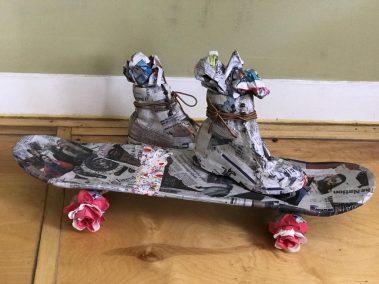 Titi de Baccarat, Skateboard, Mixed Materials, 2018